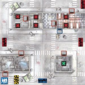 Zombicide, Mapa de juego