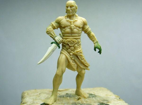 Escultura de Shevatas para el juego de Conan