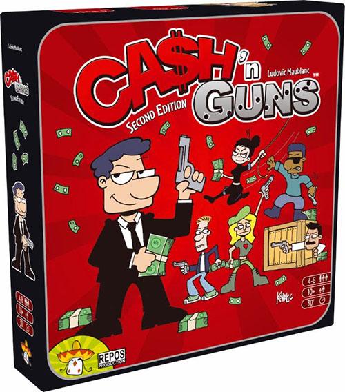 Portada de la segunda edición de Cash and Guns