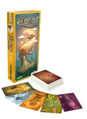 Portada y componentes de Dixit Daydreams