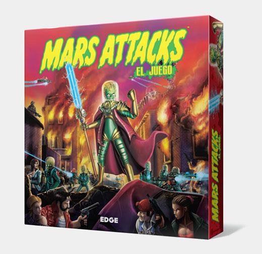 Portada de le dición en español de Mars Attacks