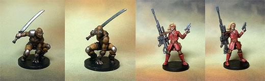 Miniaturas de agentes de Specter Ops