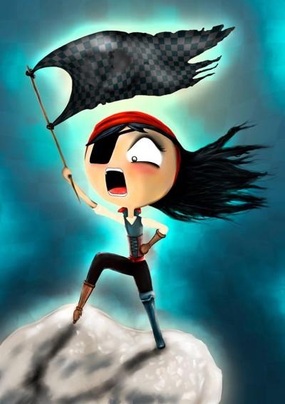 Ilustracion de Natalia Romero para Capitán Flint
