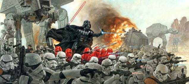 Ilustración de Stars Wars con Dath Vader