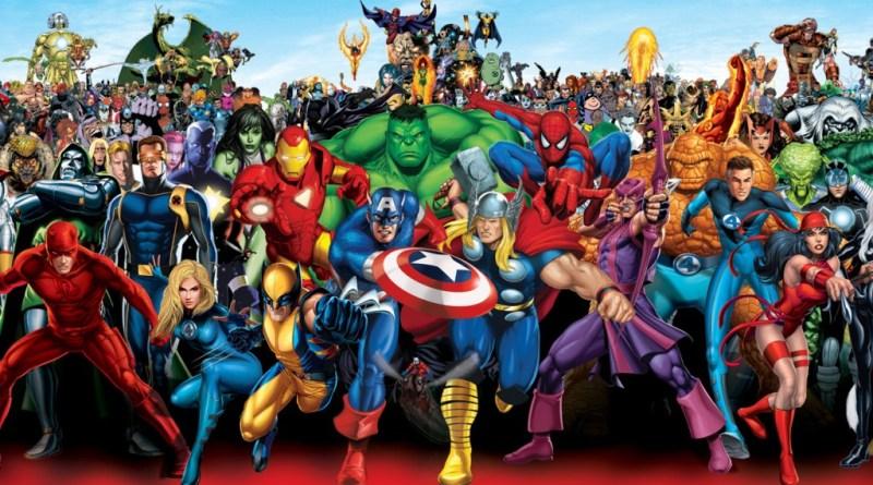 Imagen de muchos de los hérores de Marvel