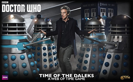 Portada de Doctor Who: Time of the Daleks – A Web of Time Game