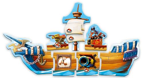 Barco de Galeones Cañones y Doblones