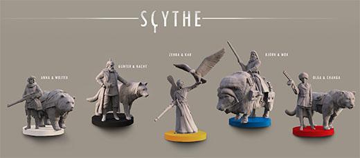 Miniaturas de personaje de Scythe