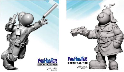 Miniaturas de Fanhunter urban warfare