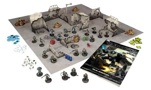Componentes del starter del Deadzone 2nd edition