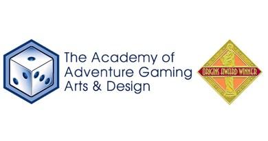 Logotipo de la AAGAD que concede los Origins Award 2016