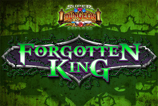 Logotipo de super dungeon explore el rey olvidado
