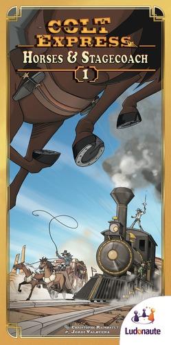 portadade Colt Express horses & Stagecoach