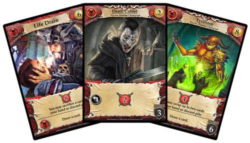cartas de la facción necros de hero realms