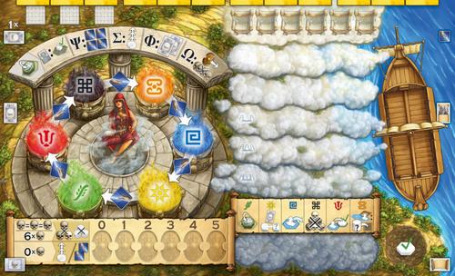 Tablero del jugador de Oracle of Delphi