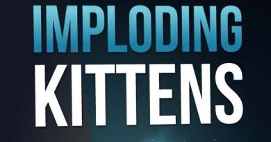 Logotipo de imploding kittens, expansión de exploding kittens