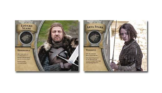 Cartas de la casa stark de juego de tronos: el trono de hierro