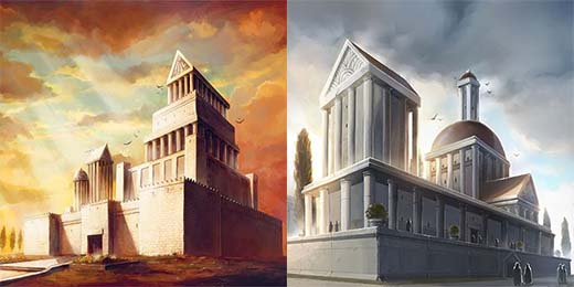 Ilustraciones de Cyclades Monuments
