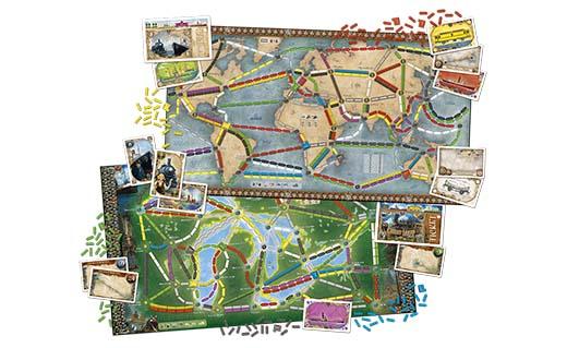 Componentes de aventureros al tren la vuelta al mundo