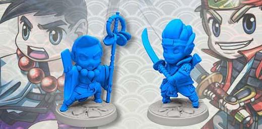 Héroes del juego de miniaturas Yokai Quest