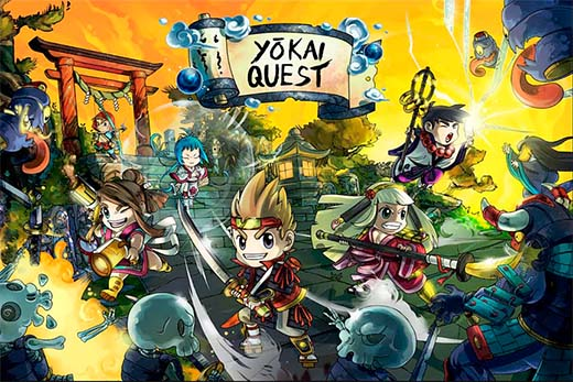 Portada del juego de miniaturas Yokai Quest