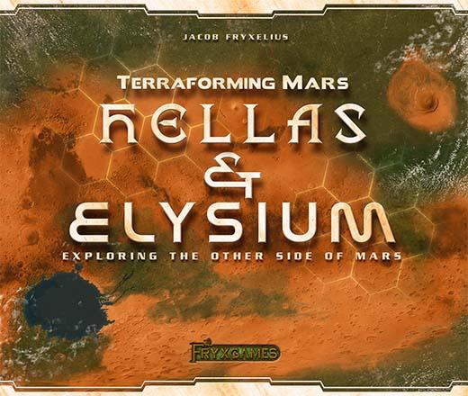 Portada de la expansión de terraforming mars Hellas y Elysium