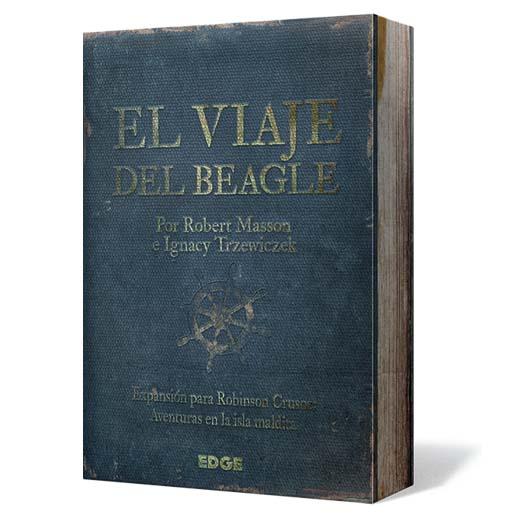 Portada de la edición en castellano de El VIaje del Beagle Expansión para Robinson Crusoe
