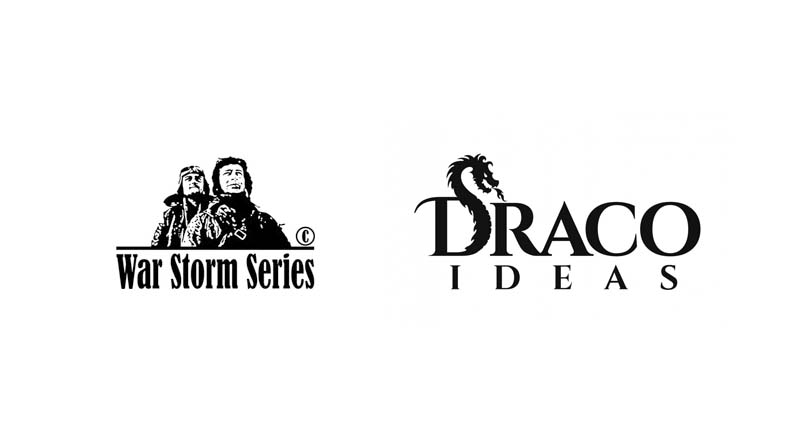 Logotipos de War Storm Series y Draco Ideas