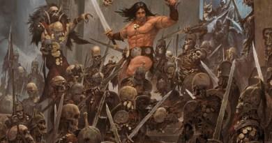 Arte gráfico de la portada del juego de mesa Conan