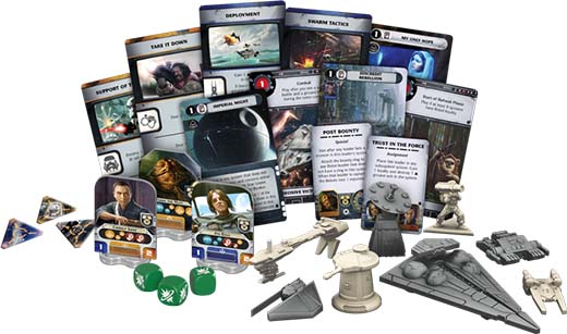 Componentes de star wars Rebellion: Rise of teh Empire