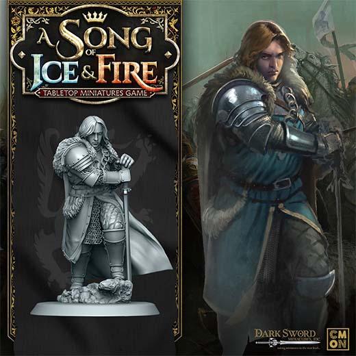 Render de la miniatura de Robb Stark para Canción de Hielo y Fuego el juego de miniaturas