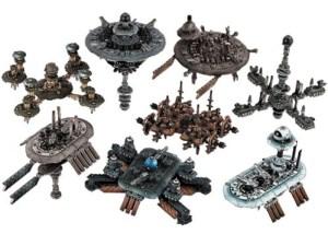 Componentes de Dropfleet Commander Modular Spacestation Pack