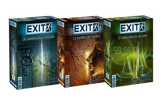 Poratda de la edición de devir de los tres juegos de exit the game