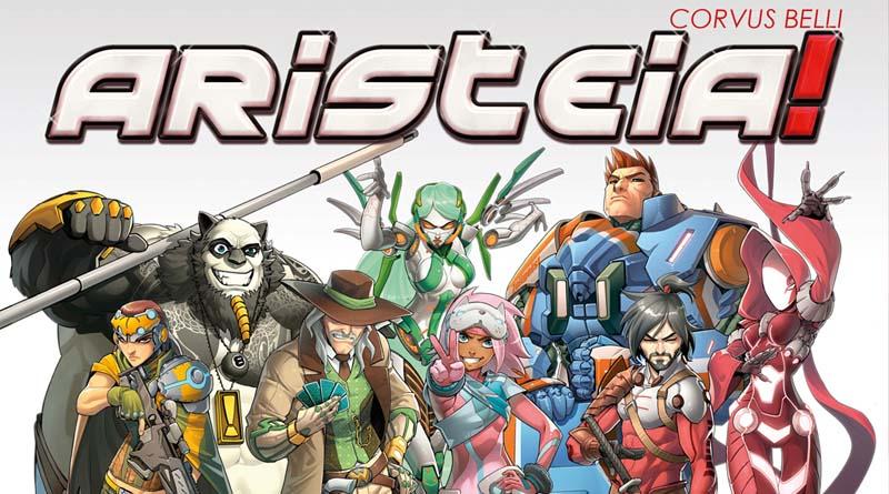 Detalle del arte de la portada del juego de mesa Aristeia