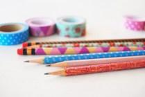 lápices con washi tape