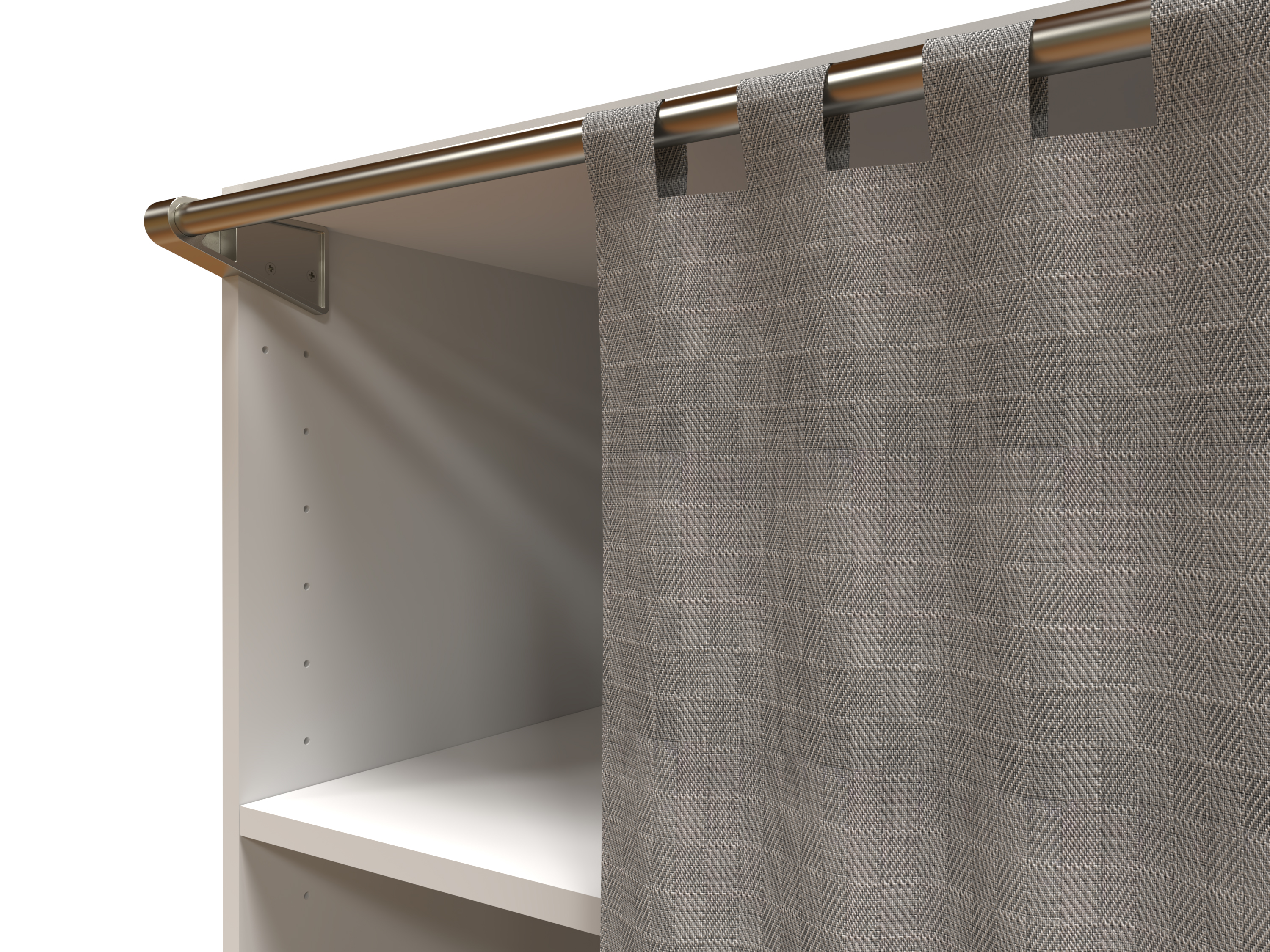 support rideau de dressing spaceo home