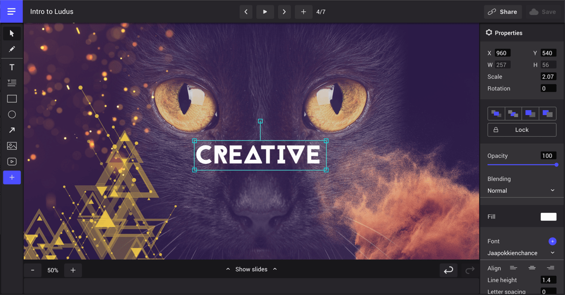 Ludus · Limitless creativity for your slides