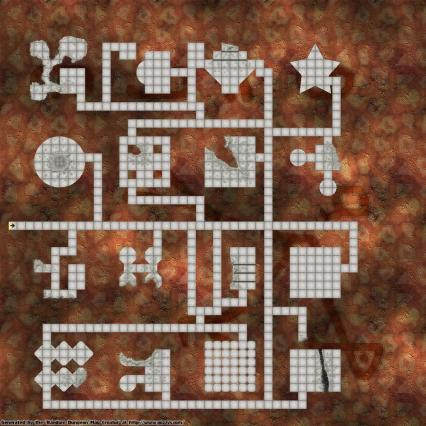 A randomly generated dungeon from Gozzys (http://www.gozzys.com/dungeon-maps)