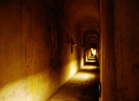 View of inside the Passetto, the secret passage between Vatican City and Castel Sant'Angelo in Rome, Italy. Photo by Raja Patnaik with post-processing by Alessio Damato. Used under Creative Commons Attribution Share-Alike Unported 3.0. License link: http://creativecommons.org/licenses/by-sa/3.0/deed.en