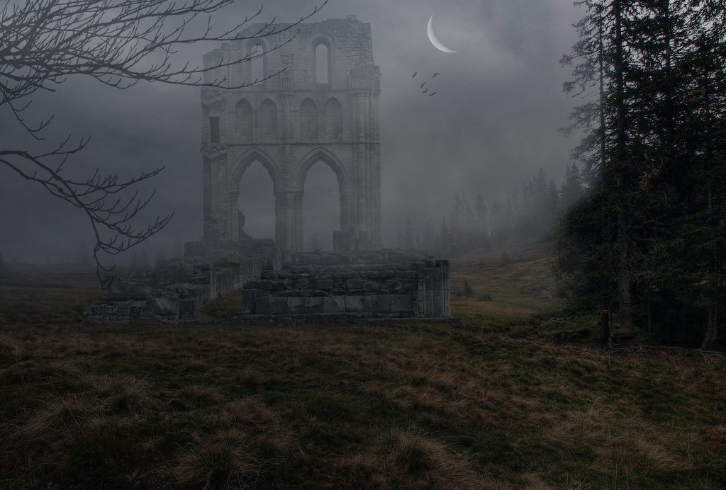 """Misty Ruins Premade"" by Alz-Stock-and-Art. Used under Creative Commons License 3.0. License link: http://creativecommons.org/licenses/by/3.0/"