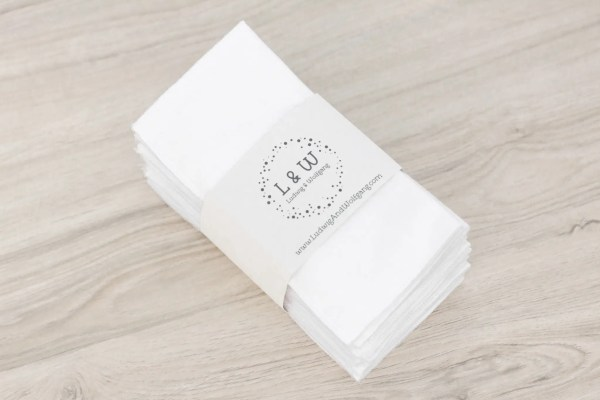 Bundle of Wipes (15 White, 2-Ply Flannel) 1