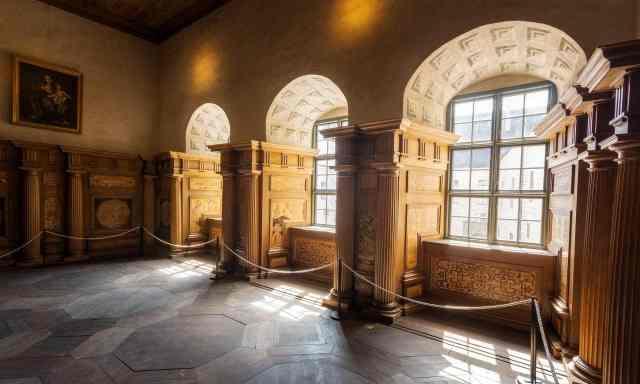 Tre vackra fönster hjälps åt för att släppa in solljuset i det annars ganska mörka Kalmar Slott