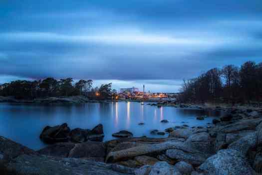 Långa slutartider - Stilla vatten vid Ortholmen i Karlshamn