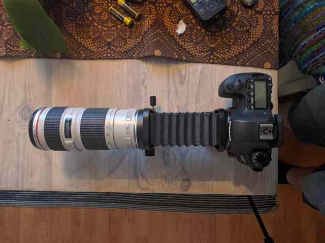 Canon 6D med makrobälg monterad - Ludwig Sörmlind