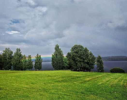 Låg regnbåge över Sunne - Ludwig Sörmlind