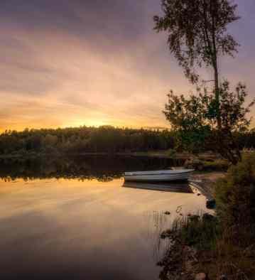 Solnedgång i Backaryd - Ludwig Sörmlind