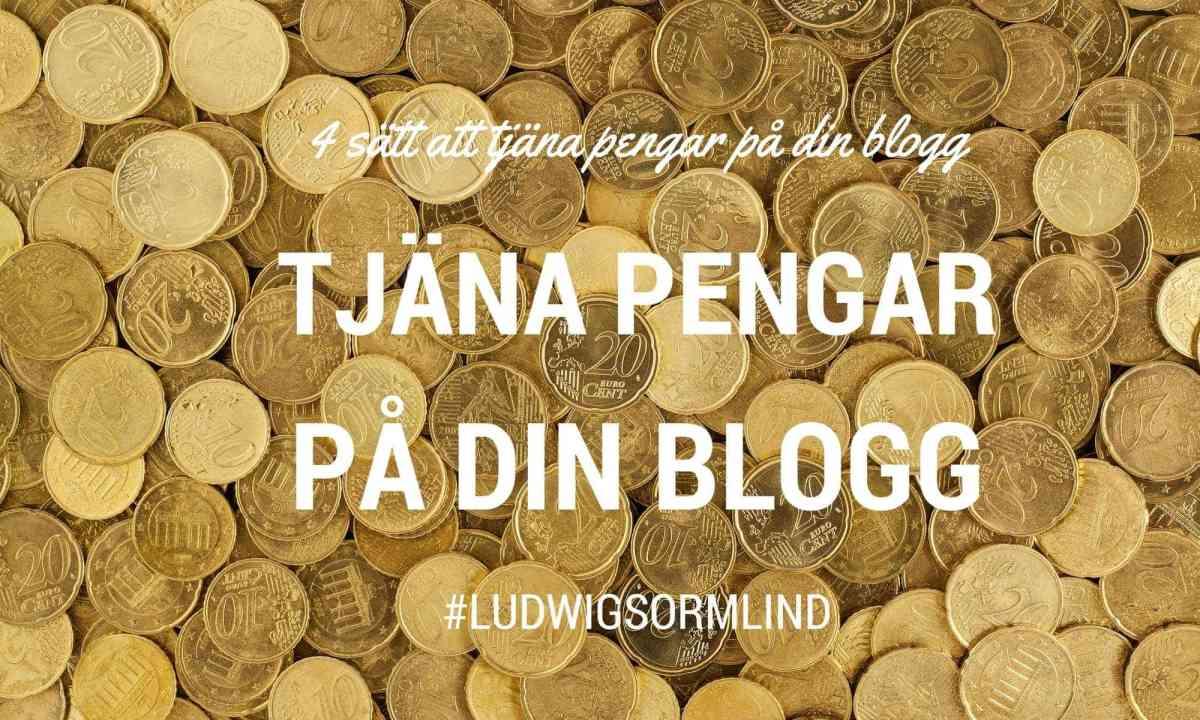 4 sätt att tjäna pengar på din blogg