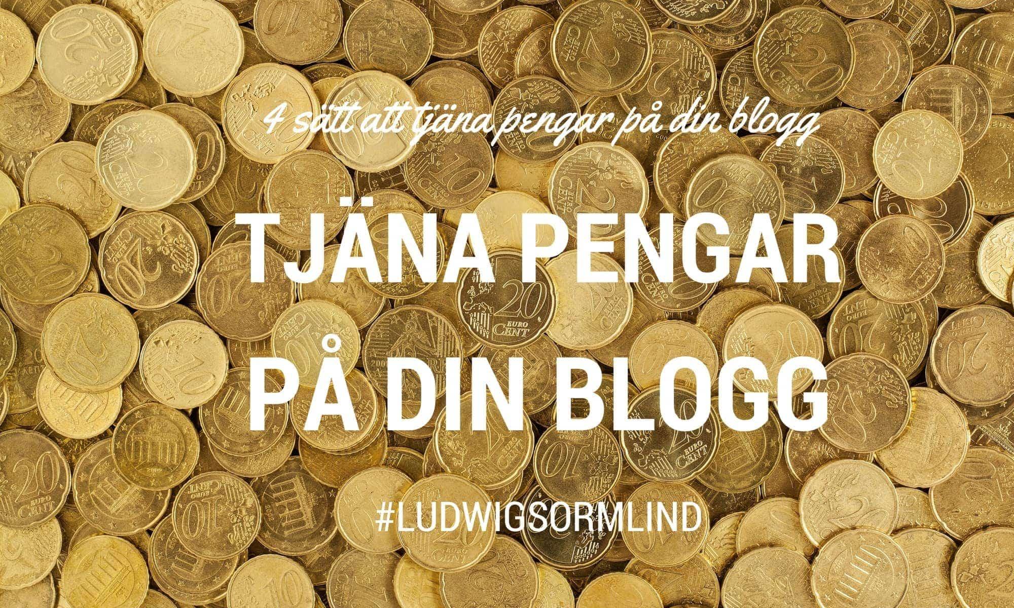 4 sätt att tjäna pengar på din blogg eller hemsida - Ludwig Sörmlind
