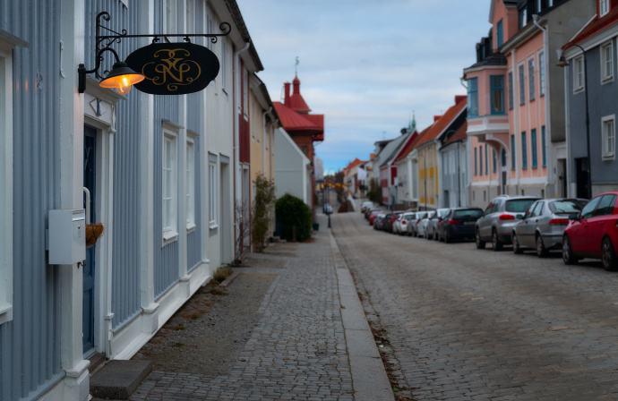 Karlshamn vy över Drottninggatan - Ludwig Sörmlind