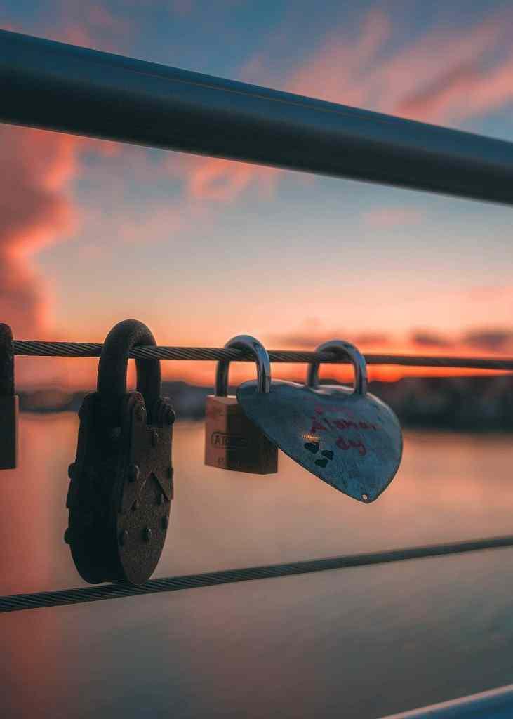 Sölvesborgsbron i solnedgången - Europas längsta gångbro - Ludwig Sörmlind